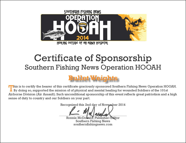Certificate of Sponsorship