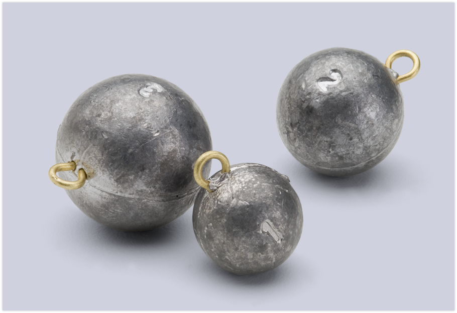 Cannonball sinkers fishing sinkers for Bullet weight fishing